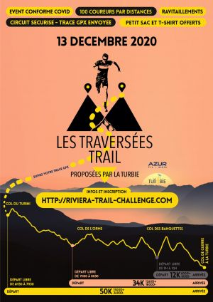 TRAVERSEES TRAIL DE LA TURBIE